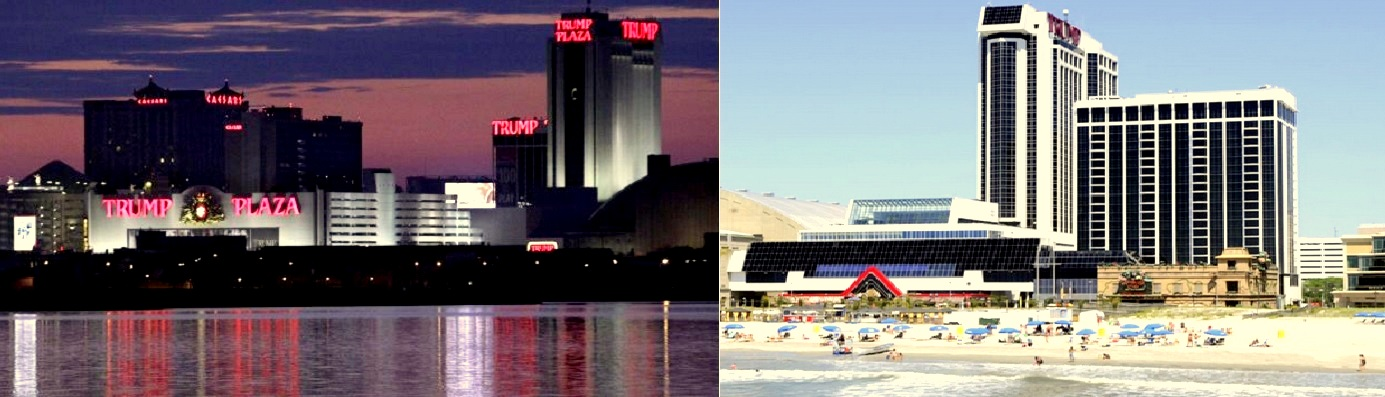 Trump Plaza night and day view