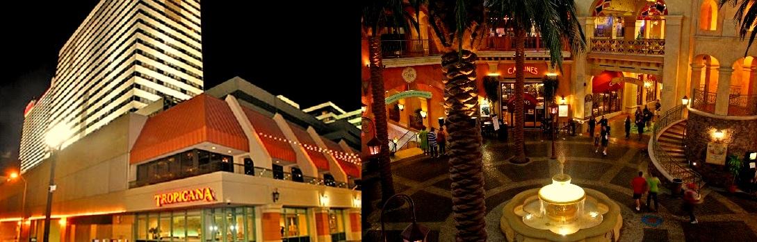 tropicana atlantic city casino indoor and outdoor view