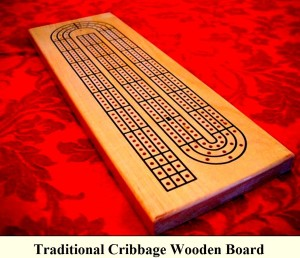 Traditional Cribbage Wooden Board