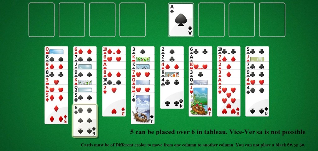 invalid move in FreeCell